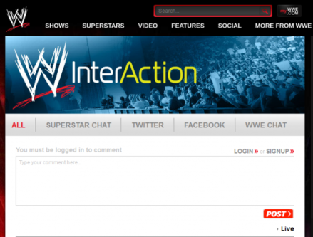 WWE Social InterAction