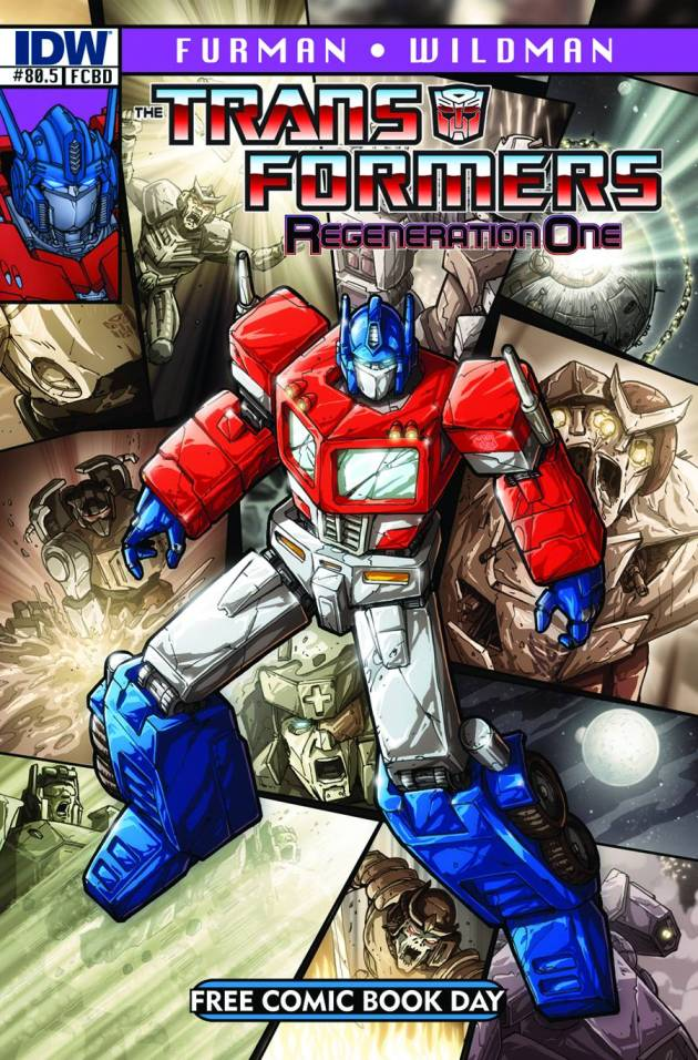 Transformers 80.5 Regeneration One - Free Comic Book Day 2012