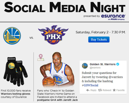 Golden State Warriors Social Media Night I